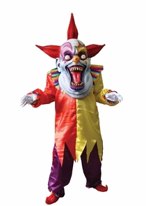 Evil Clown Red Yellow Oversize Costume