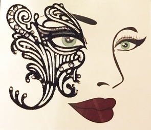 Face Decal Eye Lace Costume