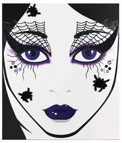Face Decal Spider Web Costume