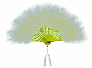 Fan Marabou Feather White Costume