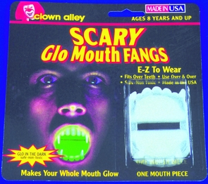 Fangs Glo Mouth Costume