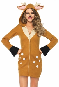 Fawn Cozy Adult Small Costume