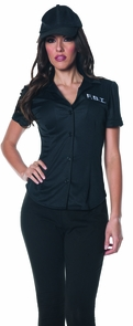 Fbi Fitted Shirt Adult Small Costume