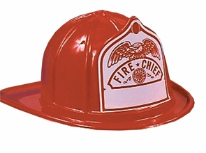 Fire Fighter Helmet Red Costume