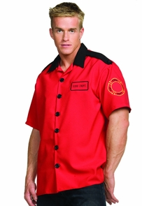 Fireman Shirt X-large Costume