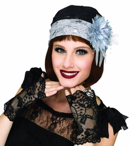 Flapper Cloche & Mitts Costume