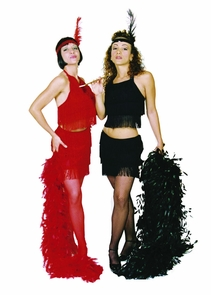 Flapper Sexy Red Large Costume
