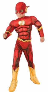 Boy's Deluxe Photo-Real Muscle Chest Flash Costume