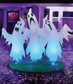 Floating 3 Ghosts 6 Ft Costume