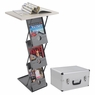 Folding Brochure Podium Collapsible Rack Literature Stand