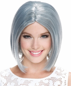 Frosted Midi Bob Smoky Grey Wg Costume