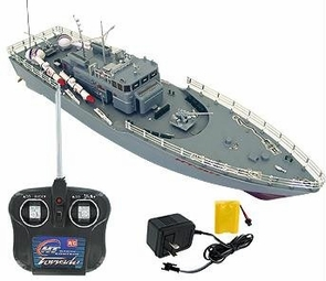 Fun Remote Control Navy Battleship Boat Warship W/Missiles