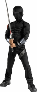 G.i. Joe Snake Eyes Musc 10-12 Costume