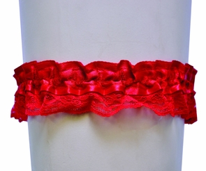 Garter Lace Red Single Costume
