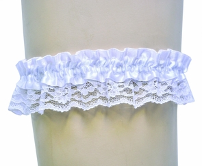 Garter Lace White Single Costume