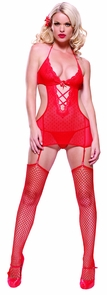 Garter Mini Dress W Gstr Sm Md Costume