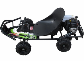 Gas Go-Kart PowerKart W/Powerful Scooter Motor