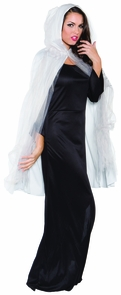 Ghost Cape 3/4 Grey Adult Costume