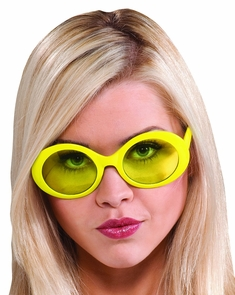 Glasses Fabulous Capri Yellow Costume