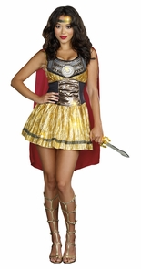 Golden Gladiator Large 10-14 Costume