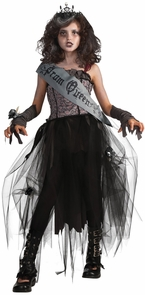 Goth Prom Queen Child Large Costume