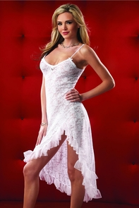 Gown And G String White One Sz Costume