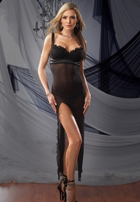 Gown W G String Mesh Medium Costume