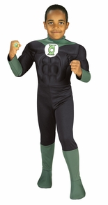 Boy's Deluxe Muscle Chest Green Lantern Costume