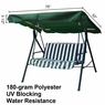 Green Outdoor Patio Swing Canopy Replacement 6.25 Foot