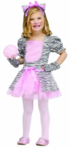 Grey Kitten Tdlr Lg 3t-4t Costume