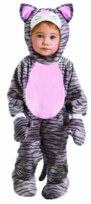 Grey Stripe Kitten Inf 6m-12m Costume