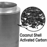 "Grow Room Coconut Activated Charcoal Carbon Filter 8""x 26"""