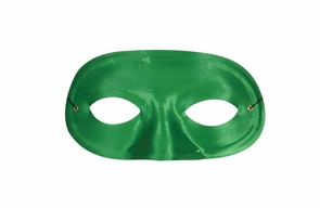Half Domino Mask Green Costume