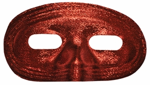 Half Mask Lame Red Costume