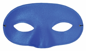 Half Mask Satin Royal Blue Costume