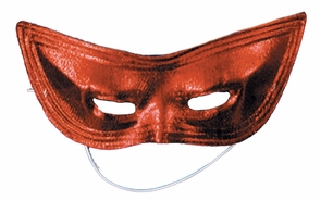 Harlequin Mask Lame Red Costume