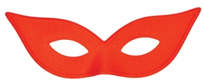 Harlequin Mask Satin Red Costume