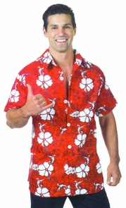 Hawaiian Shirt Red Ad One Size Costume