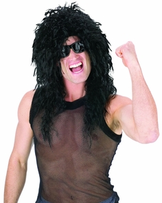 Headbanger Wig Black Costume