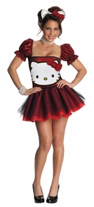 Hello Kitty Red Lg Adult Costume