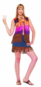 Hippie Fringed Vest Costume