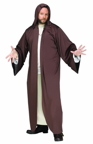 Hooded Robe Brown Ad Os Costume