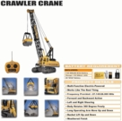 Remote Control Construction Crane Huge Heavy Duty RC W/Treads