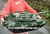 Huge RC Army Tank M1A2 Abrams Style Measures 2 1/2 Feet