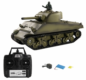 Huge RC Army Tank Makes Real Smoke And Drives On All Terrains