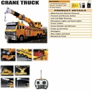 Huge Remote Control Crane Truck W/Working Arm & Hook