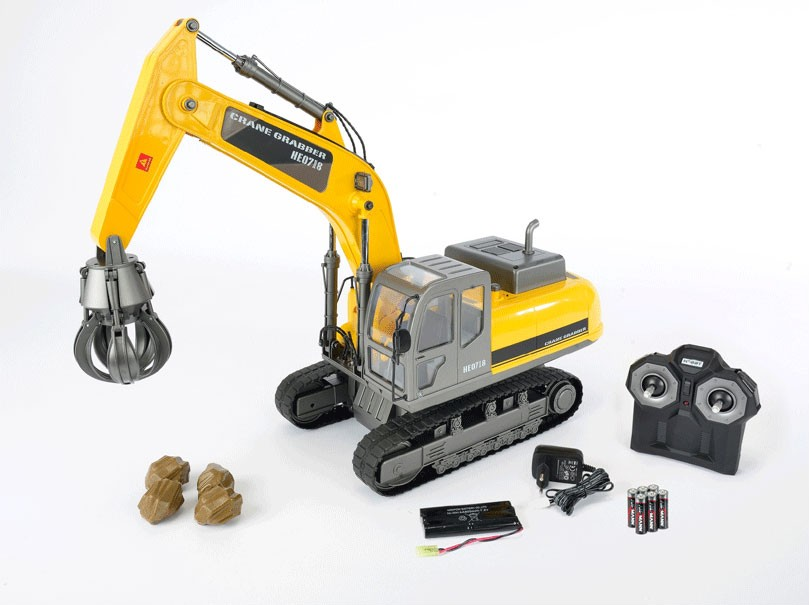 Premium Grabber Crane Remote Control Rc Construction Vehicle Hobby