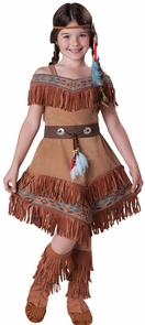 Indian Maiden Child 6 Costume