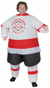 Inflatable Hockey Player Adult Costume