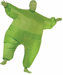 Inflatable Skin Suit Adult Gre Costume
